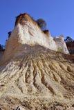Красный ландшафт выкопал 6 поколениями Pr Колорадо горнорабочих ocher Стоковая Фотография RF