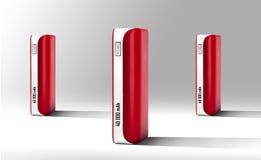 Красный банк силы Стоковое Изображение RF