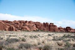 Красный барьер стены стоковое фото