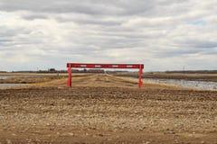 Красный барьер стоковое изображение