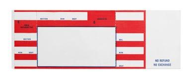 Красный билет концерта Стоковые Фотографии RF