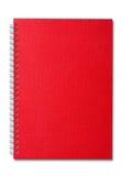 Красный блокнот стоковые фото