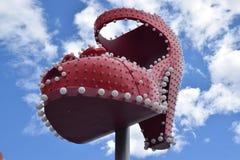 красный ботинок Стоковое Фото