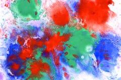Красный брызг голубого зеленого цвета Стоковое Фото