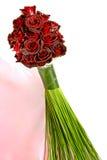 Красный букет роз (розы черного волшебства) Стоковые Изображения