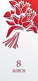 Красный букет тюльпанов на день женщин бесплатная иллюстрация