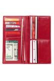 красный бумажник Стоковые Изображения