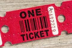 Красный бумажный билет стоковая фотография