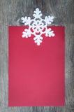 Красный бумажный лист Стоковая Фотография