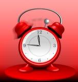 Красный будильник звеня одичало бесплатная иллюстрация