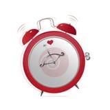 Красный будильник Стоковое фото RF