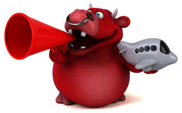 Красный бык - иллюстрация 3D Стоковая Фотография RF
