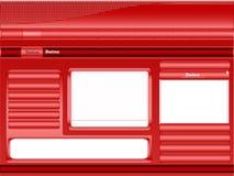 красный вебсайт шаблона