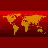 Красный вектор карты мира Стоковая Фотография