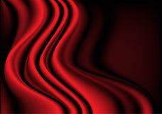 Красный вектор текстуры предпосылки кривой 3D волны silk ткани Стоковые Фото