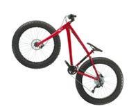 Красный велосипед горы стоковое изображение rf