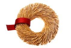 красный венок сторновки robbon Стоковые Изображения