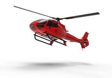 Красный вертолет иллюстрация вектора