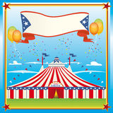 красный верх большого голубого цирка Стоковая Фотография RF