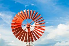 красный ветер турбины Стоковое фото RF