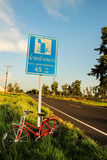 Красный велосипед Стоковые Фотографии RF
