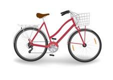 Красный велосипед ` s женщин Стоковые Изображения RF