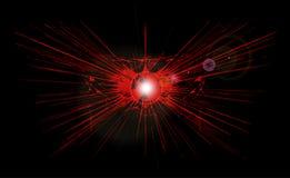 Красный взрыв Стоковое Изображение RF