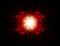 красный взрыв 3 Стоковые Фотографии RF