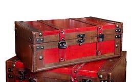 Красный винтажный изолированный хобот Стоковое фото RF