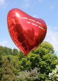 Красный воздушный шар с этими славного …still предпосылки шальные в конце концов years… стоковые фото