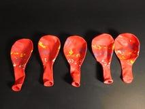 Красный воздушный шар стоковое изображение rf
