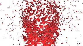 красный вортекс тетратоэдров 3d Стоковые Фото