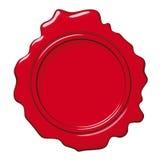 красный воск уплотнения Стоковое Фото