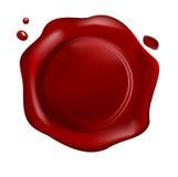 красный воск уплотнения Стоковая Фотография RF