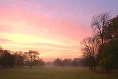 красный восход солнца Стоковые Изображения RF