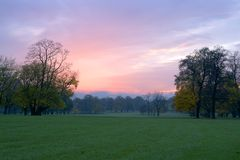 красный восход солнца Стоковое Изображение
