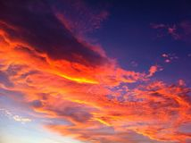 Красный восход солнца Флориды Стоковые Фото