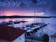 Красный восход солнца Стоковое Фото