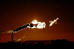 красный восход солнца Стоковое Изображение RF