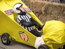 Красный водитель рефери импровизированной трибуны Bull Стоковая Фотография