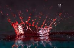 красный выплеск Стоковое фото RF
