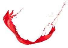 Красный выплеск стоковое изображение