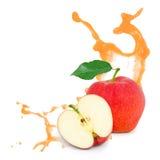 Красный выплеск яблока Стоковые Фото
