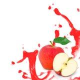 Красный выплеск яблока Стоковая Фотография