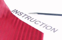 Красный галстук ткани Стоковое Изображение RF