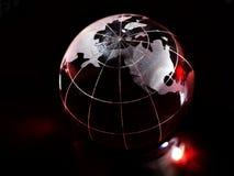 Красный глобус стоковое изображение