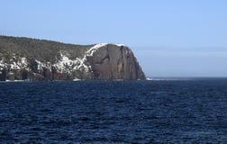 Красный головной утес около Flatrock, зоны Ньюфаундленда Avalon Стоковое фото RF
