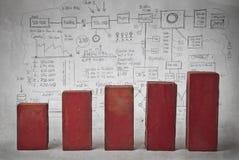 Красный график экономики бесплатная иллюстрация