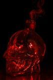 Красный графинчик черепа Стоковая Фотография
