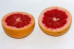 Красный грейпфрут, цитрус x paradisi Стоковые Изображения
